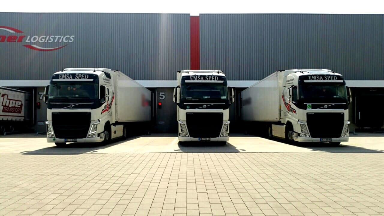 логистички услуги емша шпед камиони